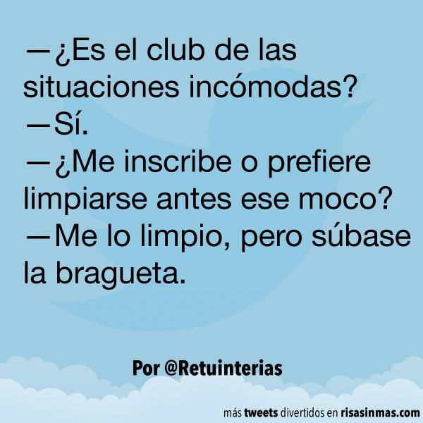El club de las situaciones incómodas
