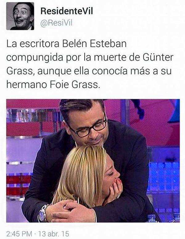 La escritora Belén Esteban compungida