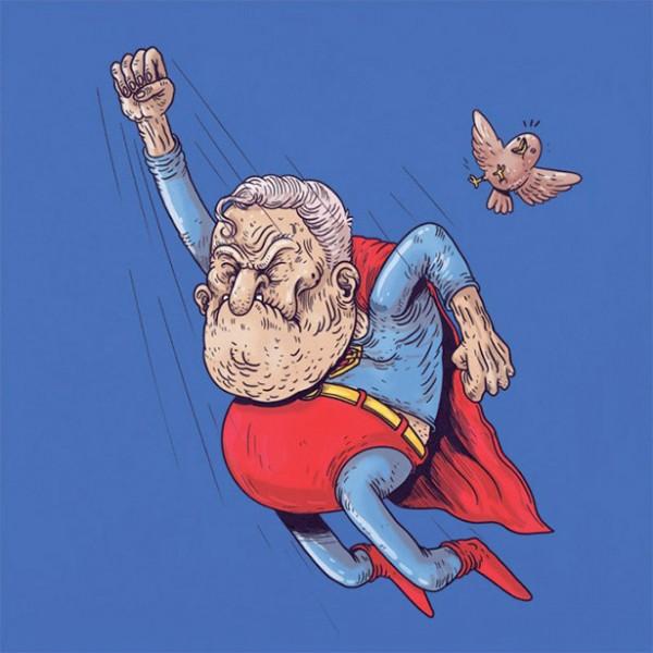 Superman de viejo
