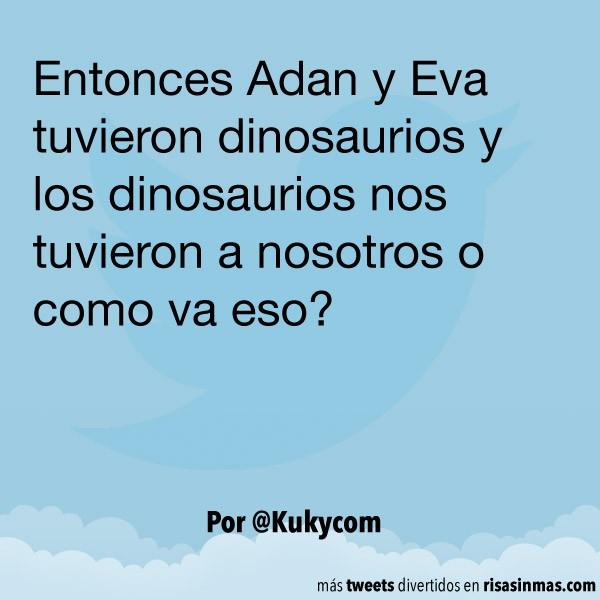 Adan y Eva tuvieron dinosaurios