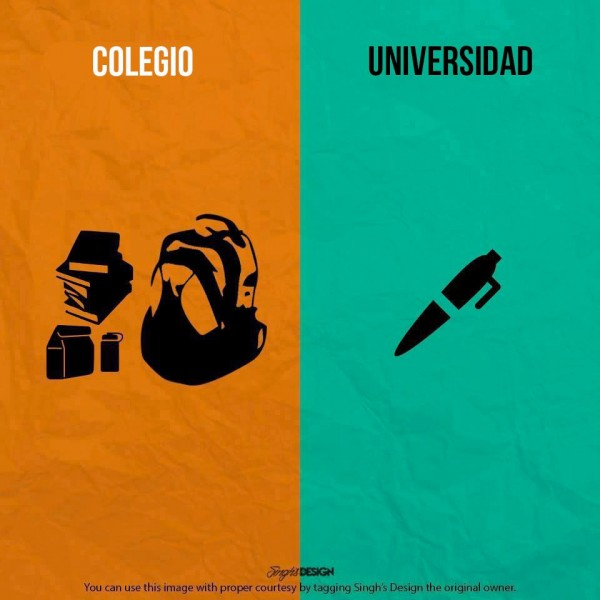 Colegio y Universidad: material