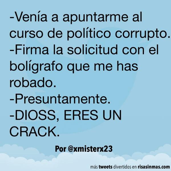 Curso de político corrupto