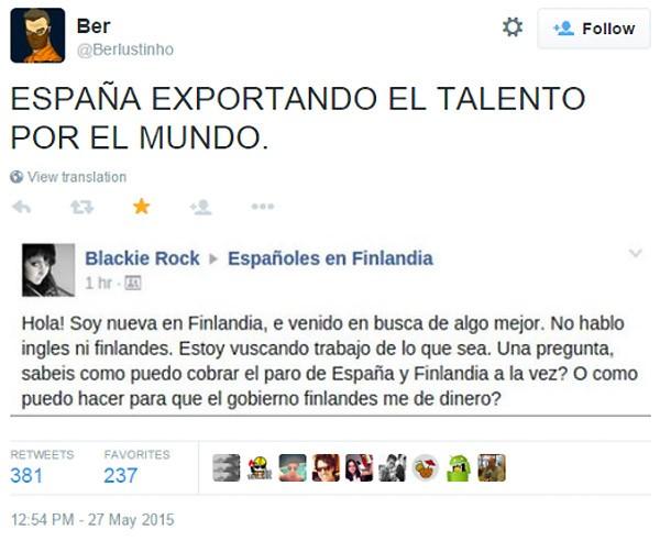 España exporta talento