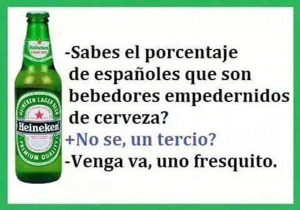 Porcentaje de españoles bebedores