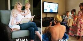 Diferencias entre mamá y papá