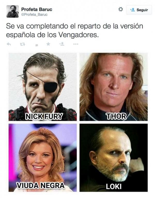Reparto de la versión española de los Vengadores