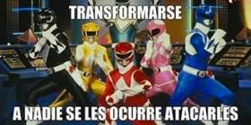 El baile de los Power Rangers