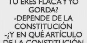 Gorda dependiendo de la constitución