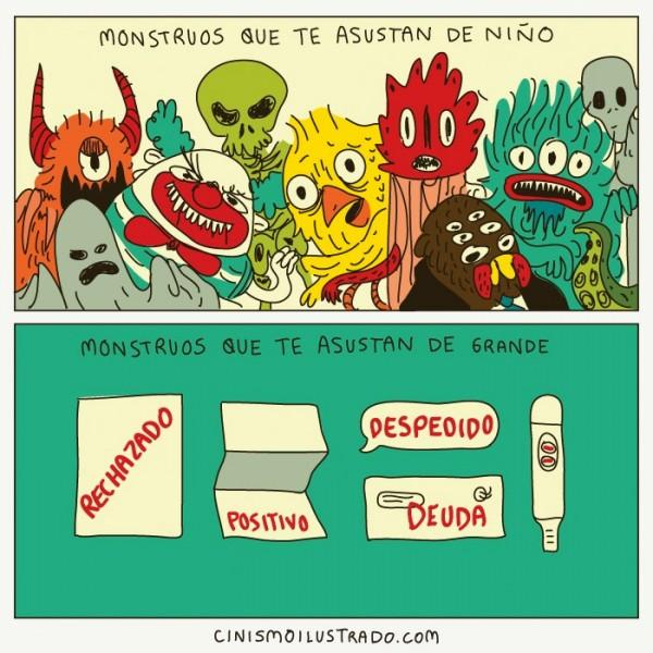 Monstruos que te asustan