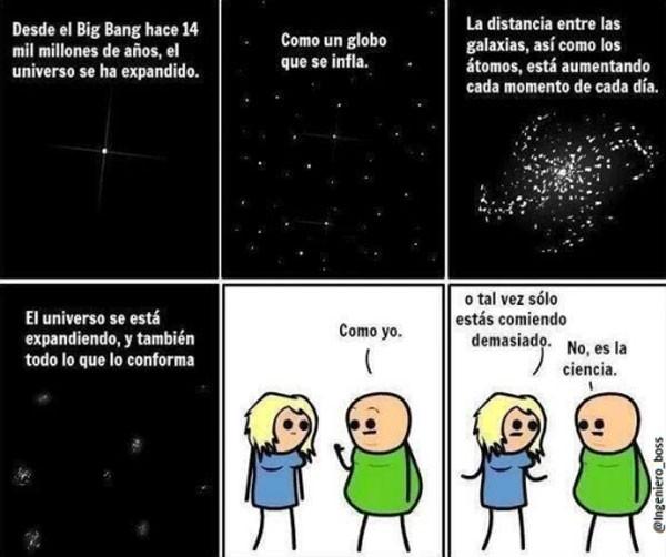 No estoy gordo, es el Big Bang