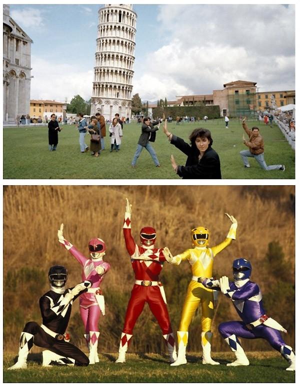 Parecidos razonables: Power rangers y Pisa