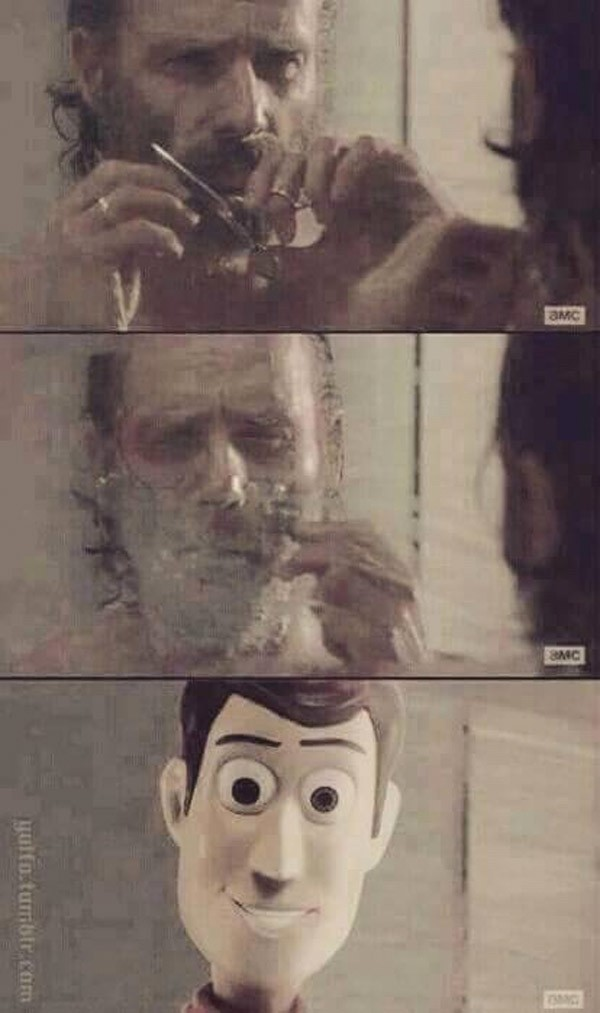 Rick Grimes se quita la barba