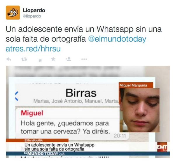 Adolescente envía un Whatsapp sin una sola falta de ortografía