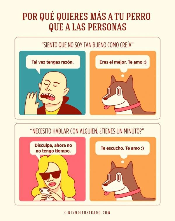 Por qué quieres más a tu perro que a las personas