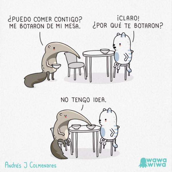 ¿Puedo comer contigo?