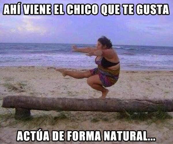 Actúa de forma natural