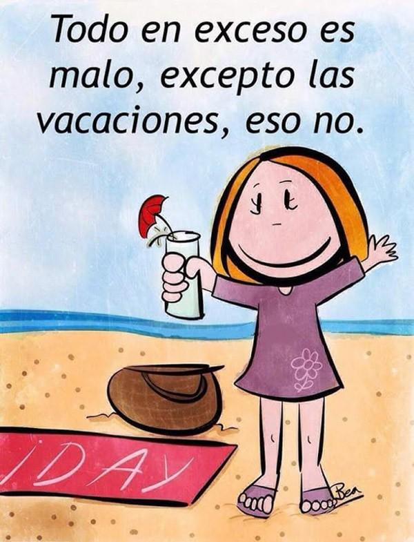El exceso de vacaciones es bueno