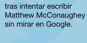 Escribir Matthew McConaughey