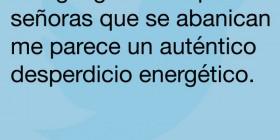 La energía generada por los abanicos