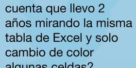 La tabla de Excel