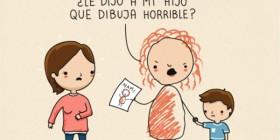 Su hijo dibuja horrible
