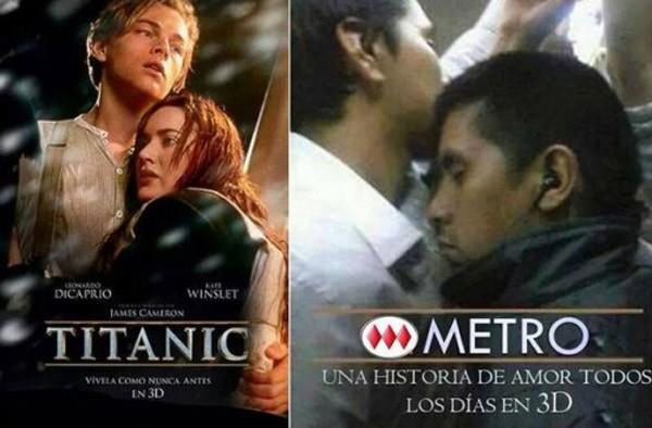 Titanic y Metro: una historia de amor