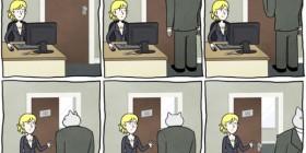 El gato empresario: llamando a la puerta