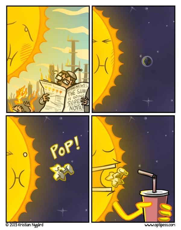 Y así es como el sol se convierte en supernova