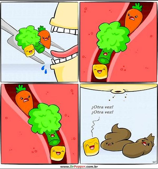El divertido camino de las verduras