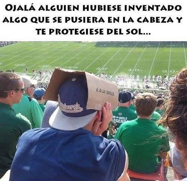 Invento para protegerse del sol