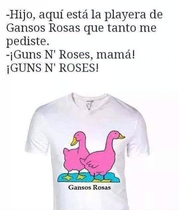 La playera de Gansos Rosas 004d1c09e8526