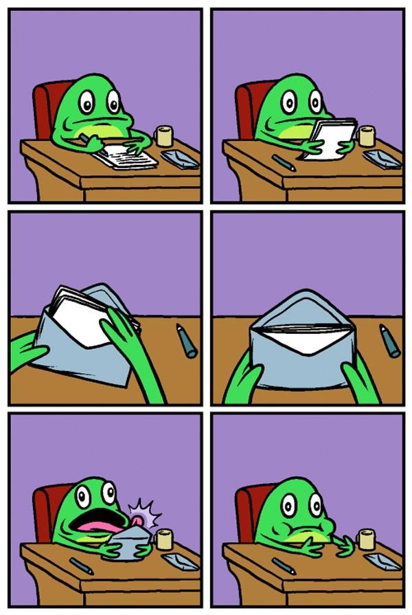 La rana y la carta