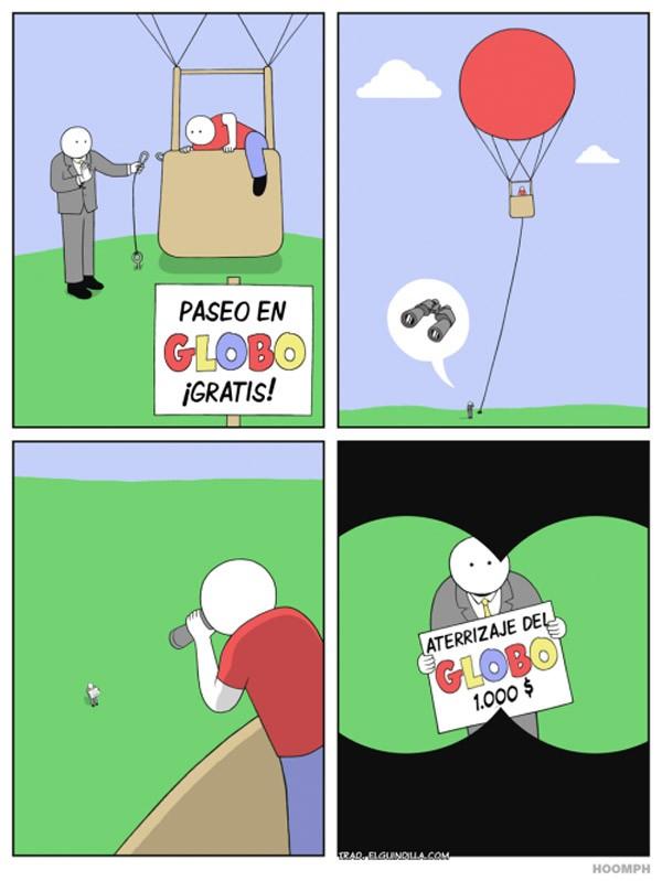 Paseo en globo gratis