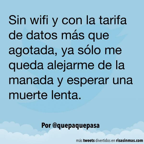 Sin wifi y sin datos