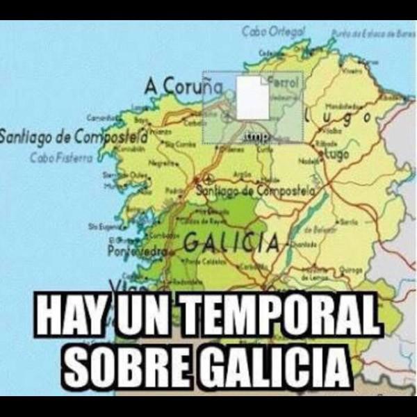 Un temporal sobre Galicia
