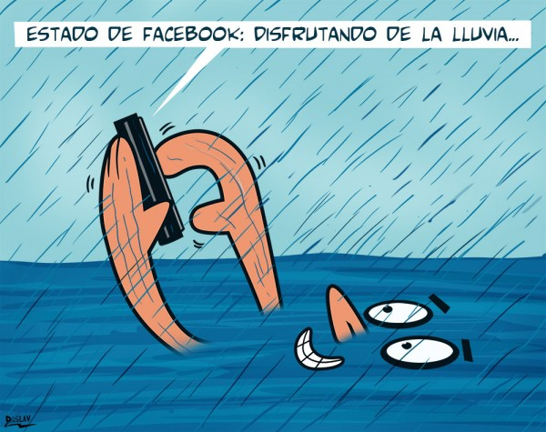 Estado de Facebook: disfrutando de la lluvia