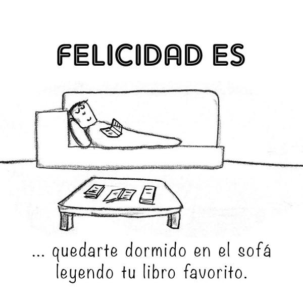 Felicidad es... quedarte dormido en el sofá