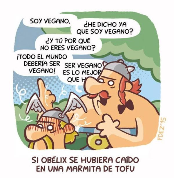 Si Obelix hubiera caído en marmita de tofu