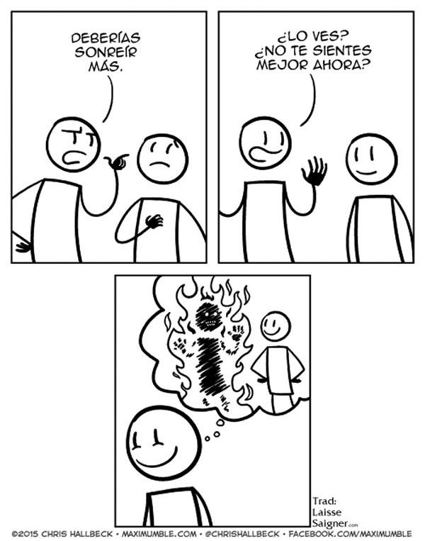 Deberías sonreír más