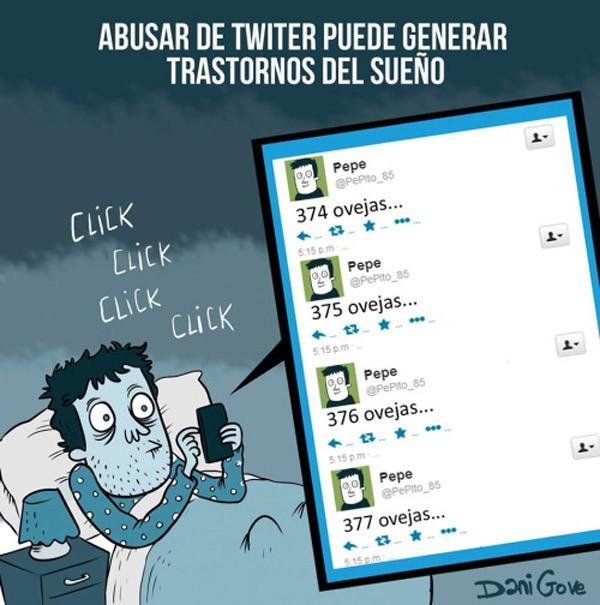 Abusar de twitter genera trastornos del sueño